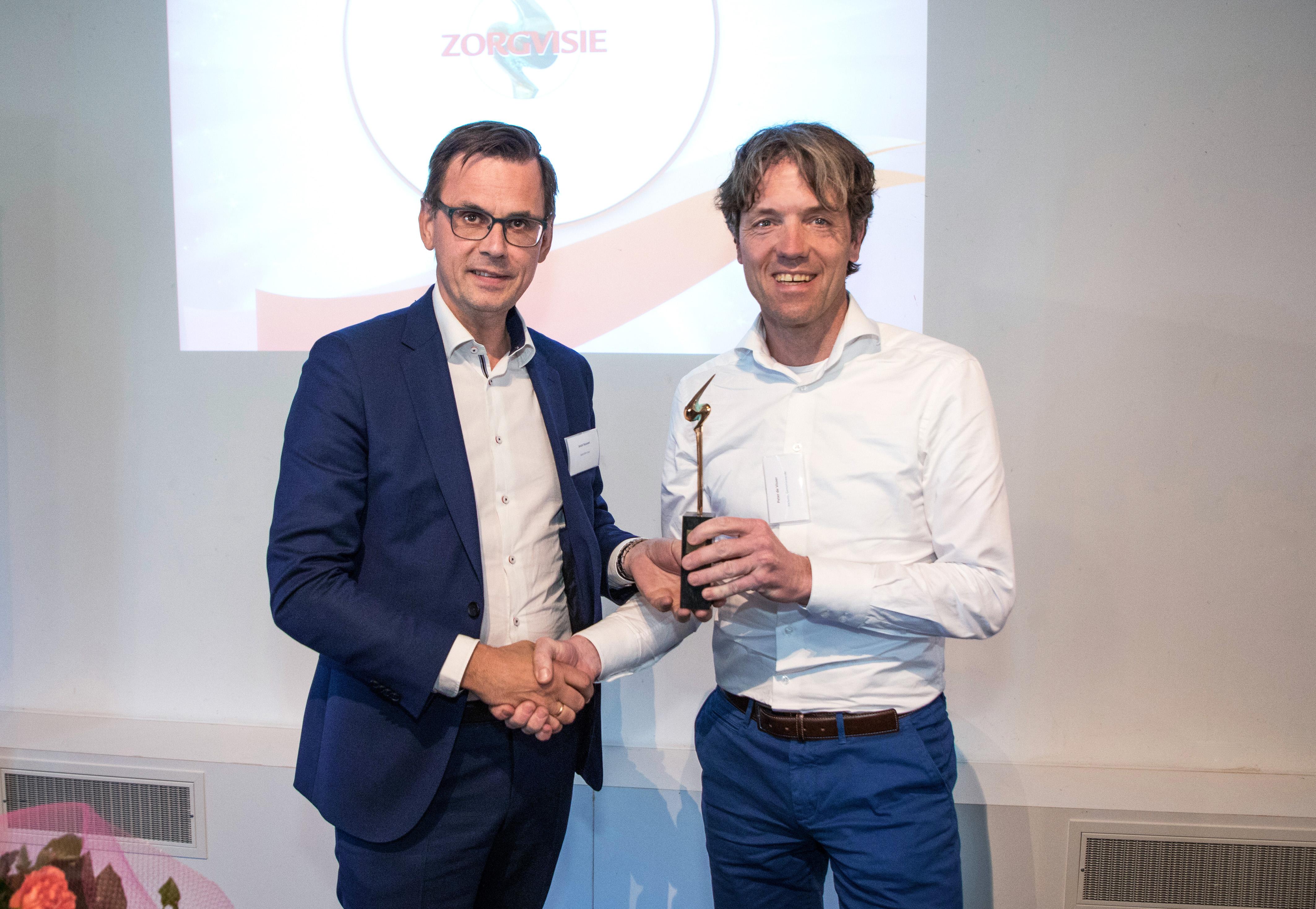 Peter de Visser is Zorgmanager van het Jaar 2019